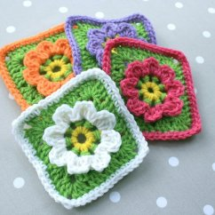 Diagram For Granny Square Crochet Stitch Goodman Heat Pump Defrost Board Wiring Floral Pattern Updated