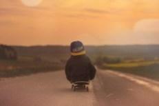 Skateboard Child Boy Sunset Pixabay