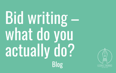 Bid writing – what do you actually do?