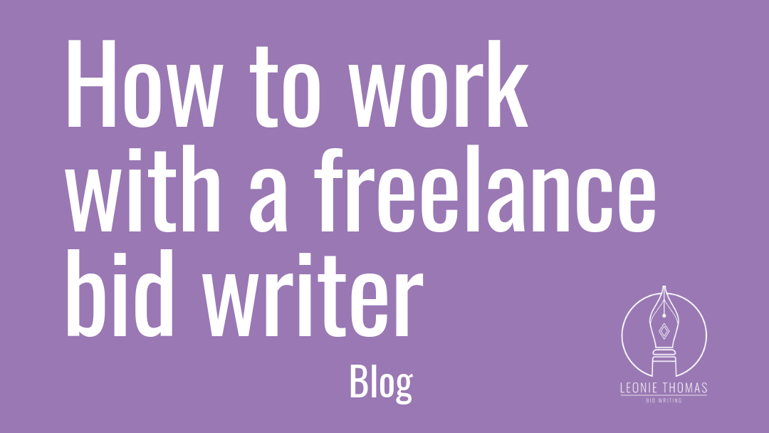 How to work with a freelance bid writer