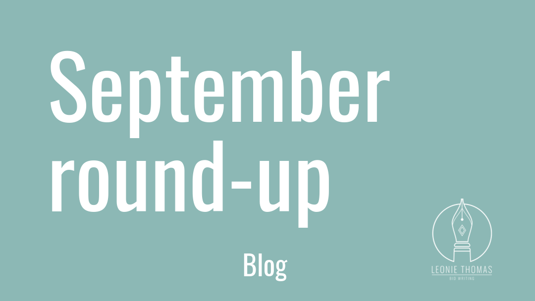 blog header September round up