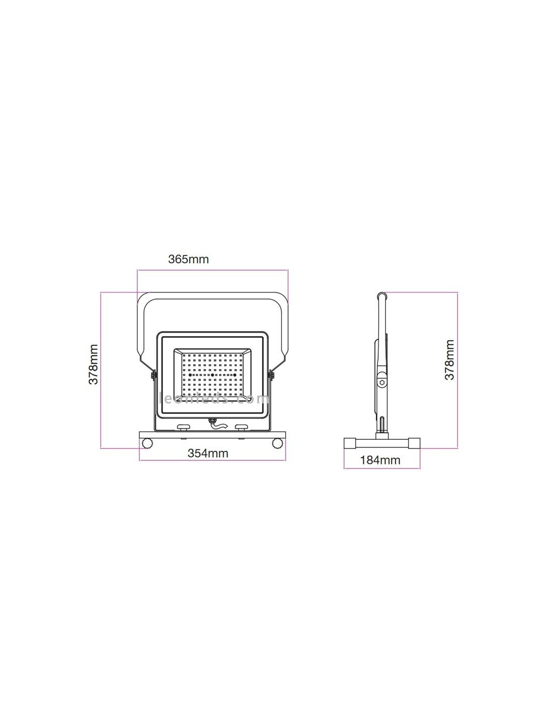 Foco proyector LED Portátil 100W con cable 6400k 5932