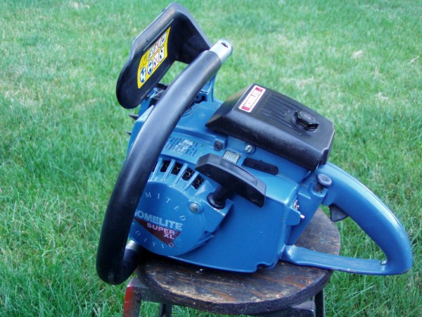 Blue Homelite Chainsaw