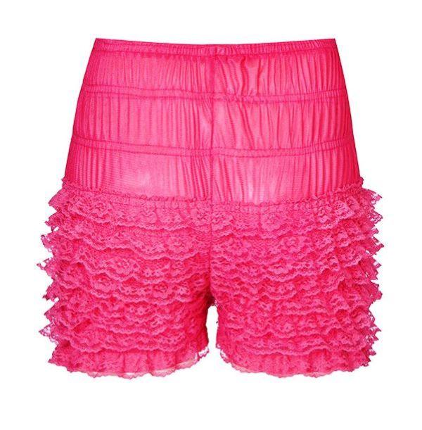 Pink Rockabilly Retro Ruffle Lace Pettipants