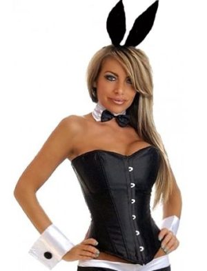 Black Playboy Tuxedo Bunny Corset Costume