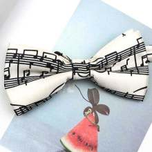 retro music notes bow tie