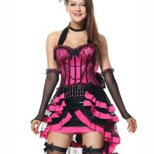 Pink Burlesque Showgirl Wild West Costume