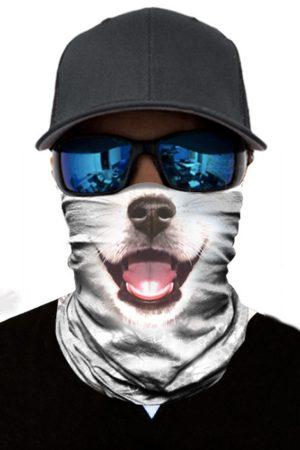 Face Mask White Dog