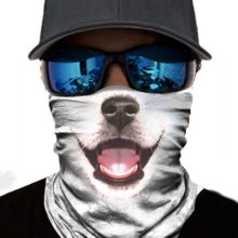 Face Mask White Dog