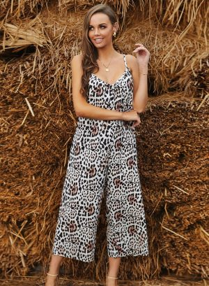 Leopard Animal Print Jumpsuit