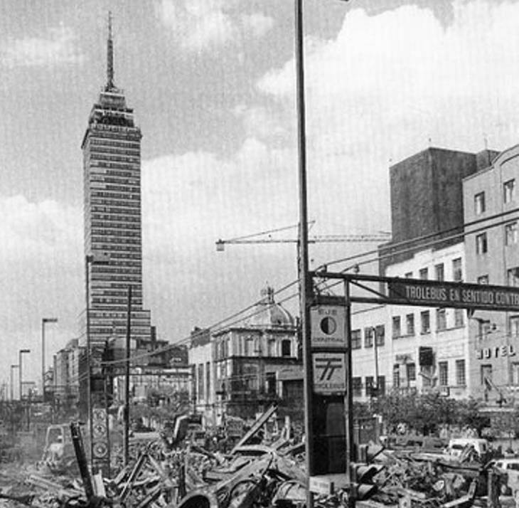 Torre Latinoamericana. Foto tomada de www.posta.com.mx