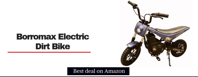 burromax tt350r electric dirt bike for kids