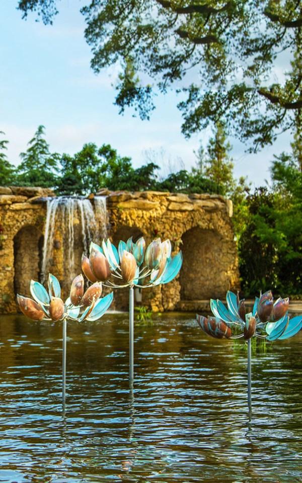 33. Lotus Lyman Whitaker Leopold Wind Sculptures