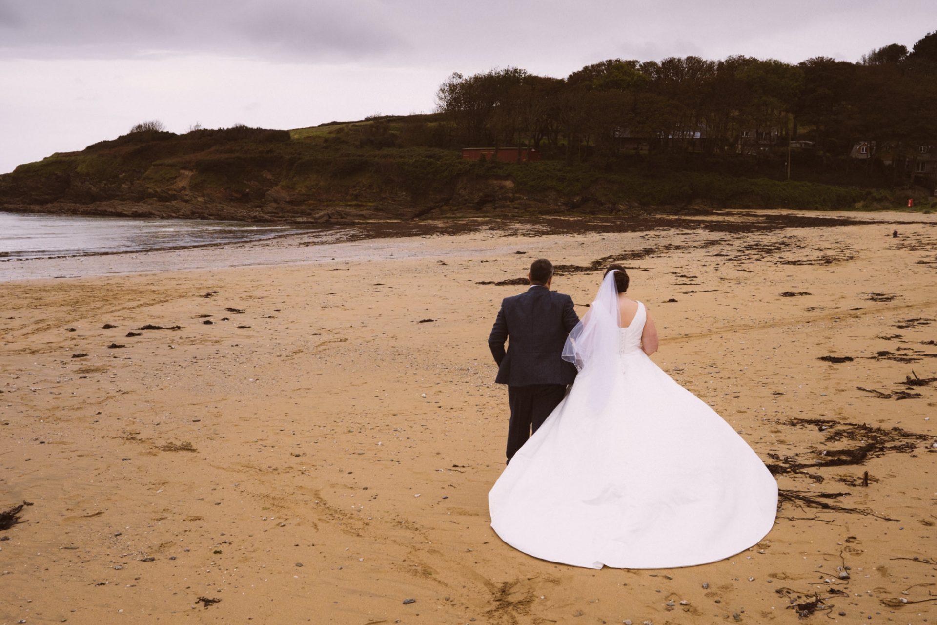 Hannah and Dan's wedding Maenporth beach