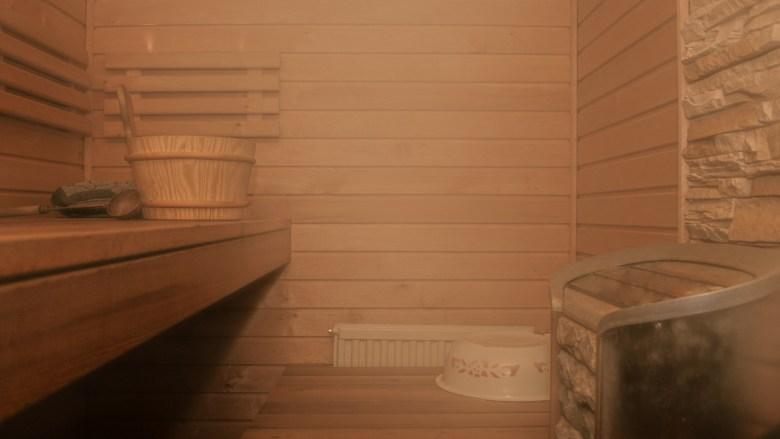 Image d'un saune avec vapeur