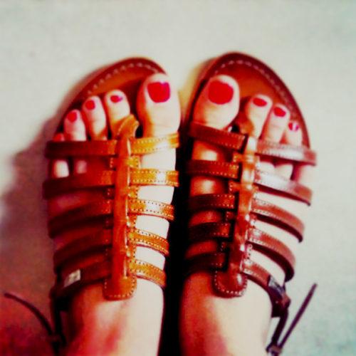Vernis à ongles pour pieds.