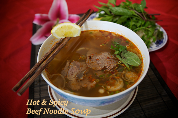 Hot & Spicy Beef Noodle Soup