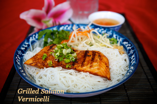 Grilled Salmon Vermicelli