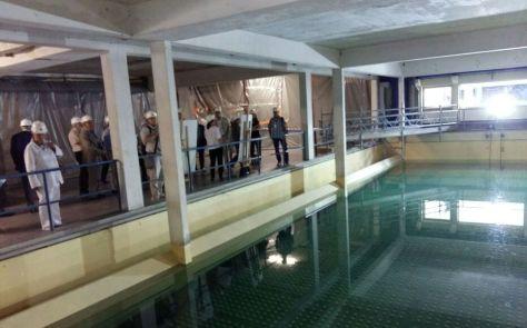 L'usine du syndicat des eaux d'Ile-de-France (Sedif) à Choisy-le-Roi en août 2016 lors d'une visite de chantier.