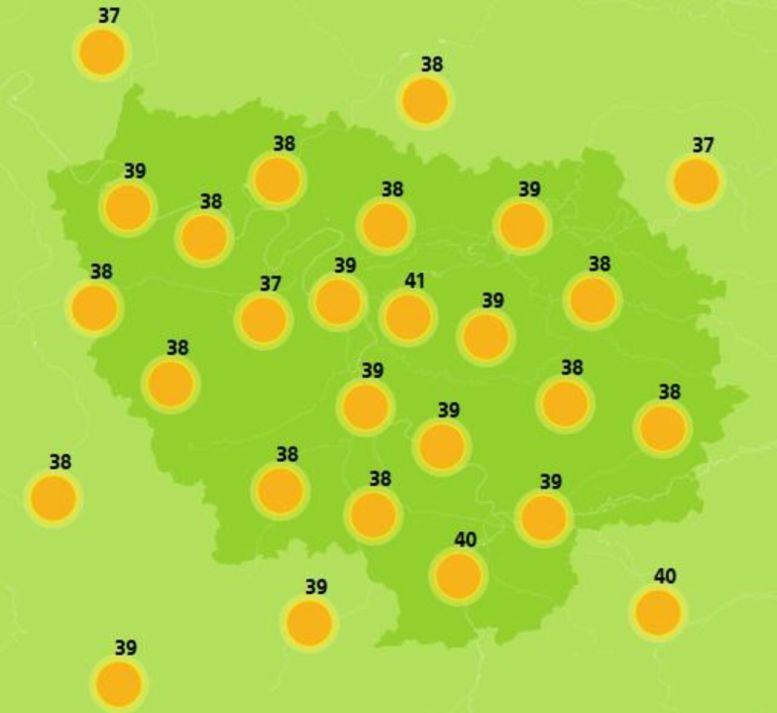 Jeudi, jour le plus chaud en Ile-de-France/Météo France