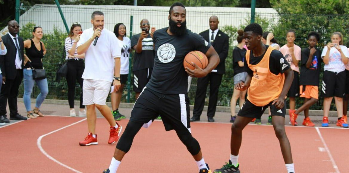 James Harden at the Georges-Carpentier hall (Paris XIII) ./ LP / Philippe Lavieille