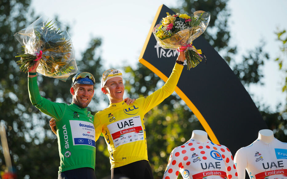 Mark Cavendish, best sprinter, and Tadej Pogacar, final winner, were two of the main players in the 2021 Tour. Reuters / Stéphane Mahé