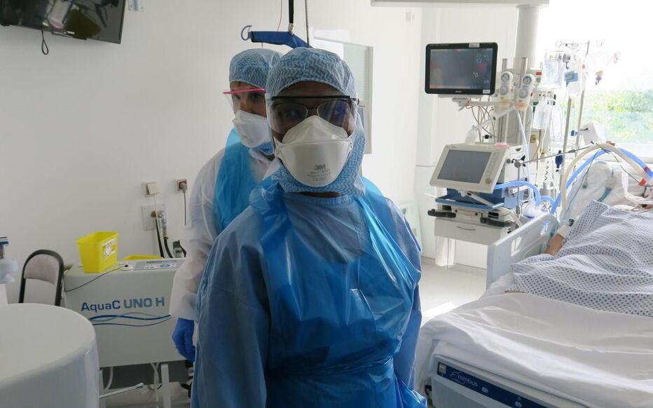 Corbeil-Essonnes, mardi 12 mai 2020. Le service réanimation du centre hospitalier sud francilien accueille encore 18 patients du Covid-19.