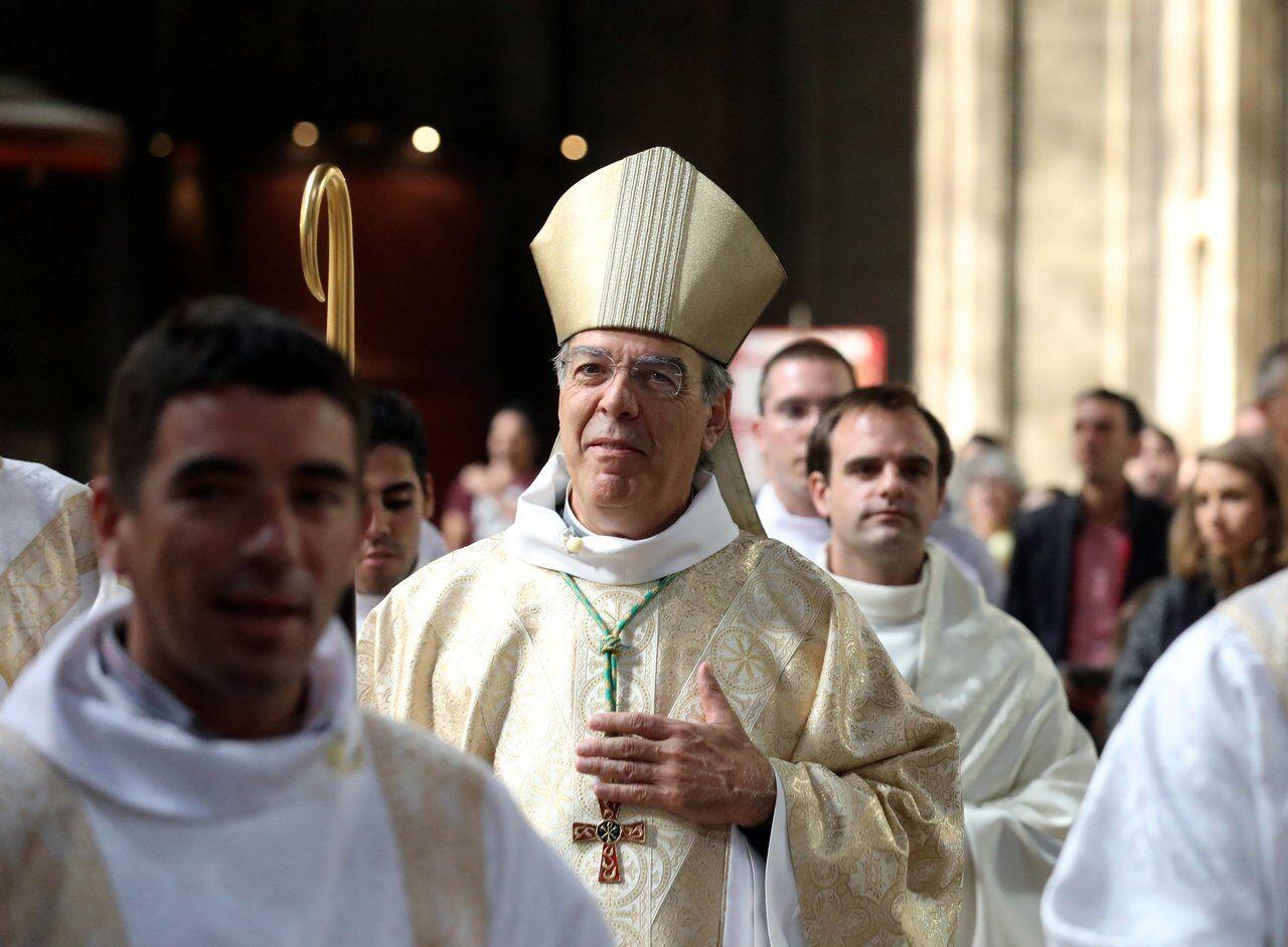 L'archevêque explique que l'on « peut aider à réfléchir » ceux qui veulent fermer la porte aux migrants. LP/Jean-Baptiste Quentin