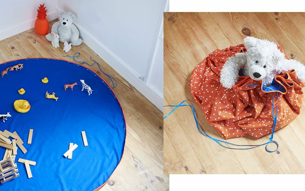 tapis de jeu devient un sac a jouets