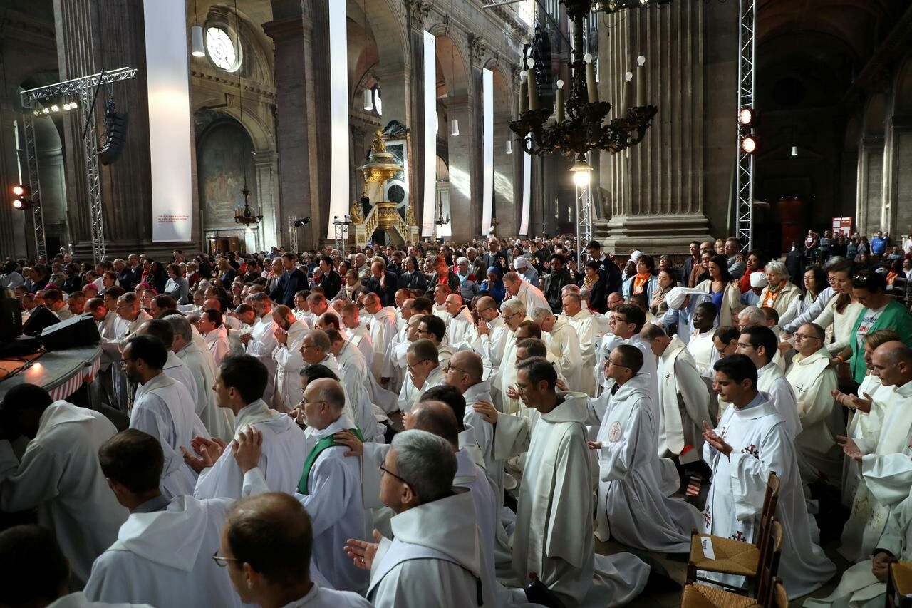 Mgr Aupetit assure que le célibat des prêtres concernant la problématique de la pédophilie au sein de l'Eglise est « une fausse question ». LP/Jean-Baptiste Quentin