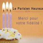 Le Parisien Heureux a 3 ans !