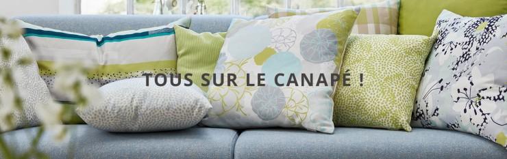 Coussins sur le canapé