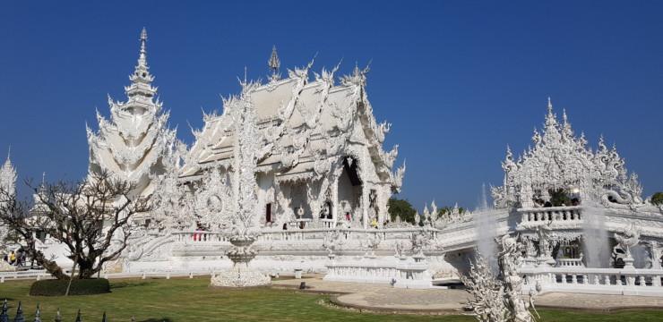 Le temple Blanc de Chiang Rai en Thaïlande