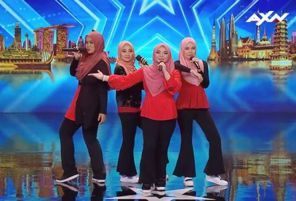 Lengkap dengan hijab, 'Nama' cipta nama menerusi Asia's Got Talent