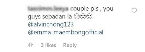 pelakon Alvin Chong dan Emma Maembong