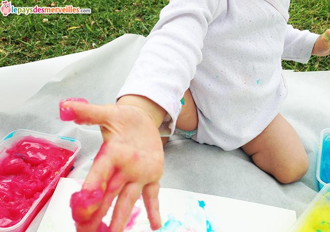 Peinture Fait Maison Comestible Et Sans Danger Pour Bb