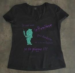 Le petit atelier de Lily tee shirt personnalise infirmiere
