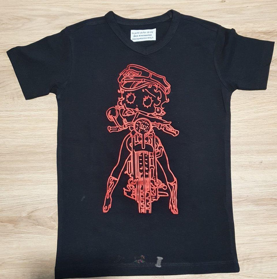 Le petit atelier de lily Tee shirt enfant Betty boop_02