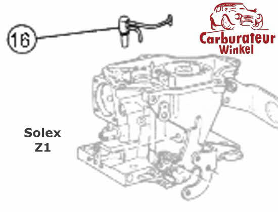 Solex Z1 carburateur onderdelen en revisiesets