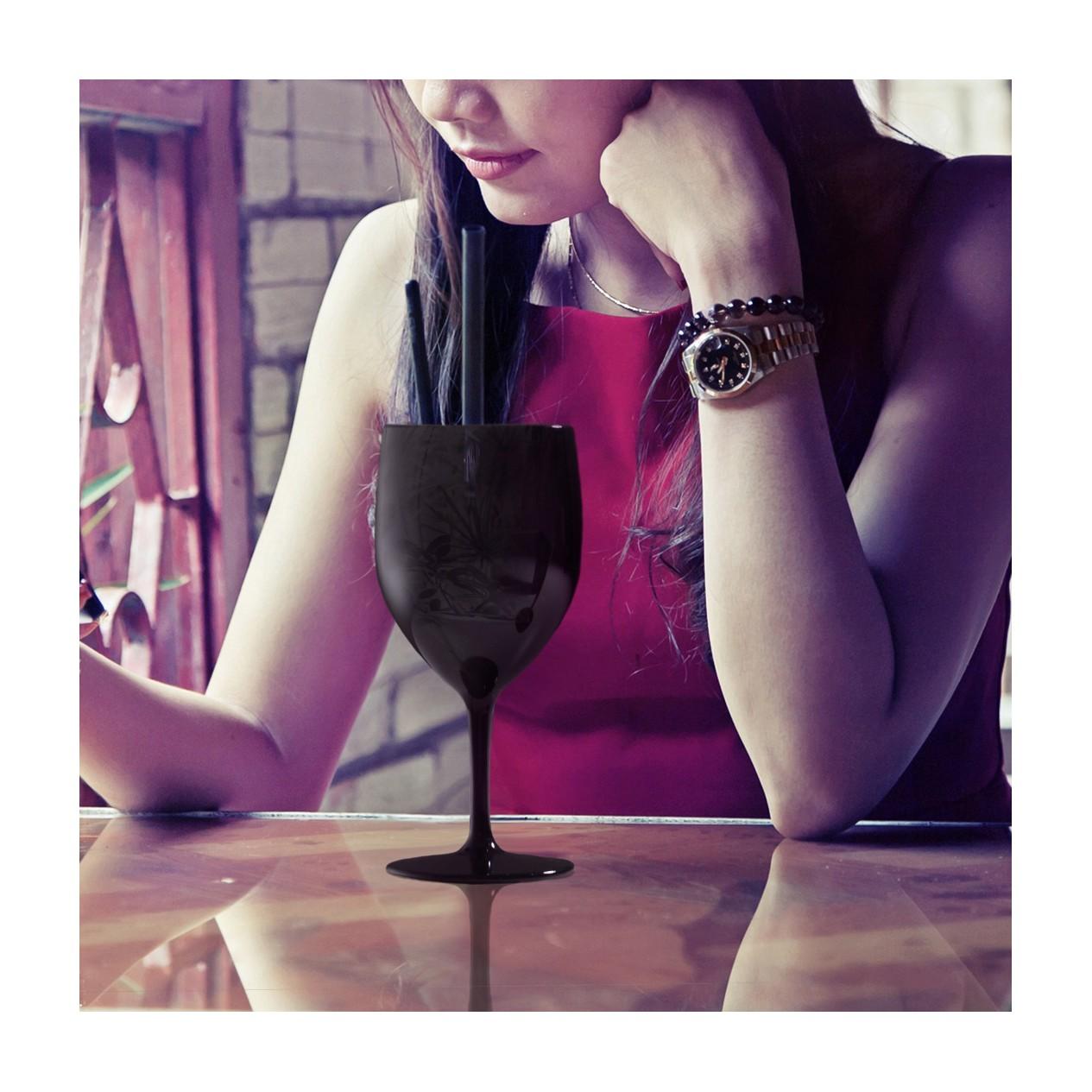 verre a pied incassable 27 cl noir