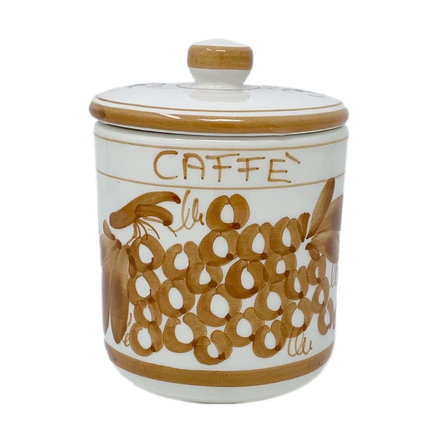 BARATTOLO PER CAFFÈ DECORO ROMAGNOLO RUGGINE Crescentini