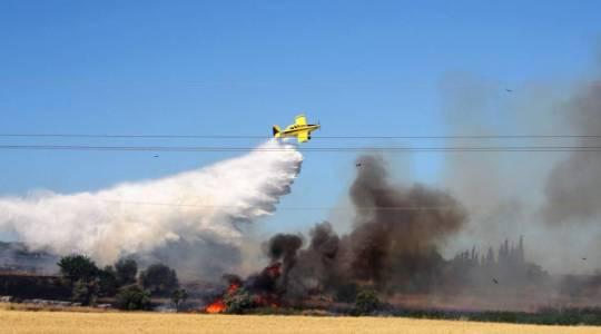 Les Air Tractor ont épaulé les pompiers.