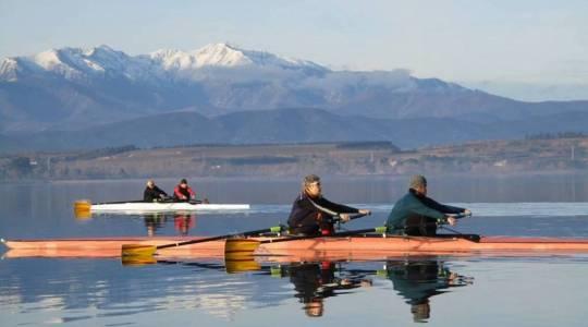 les vétérans sur le lac de la Raho