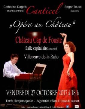 Affiche du concert du 27 octobre