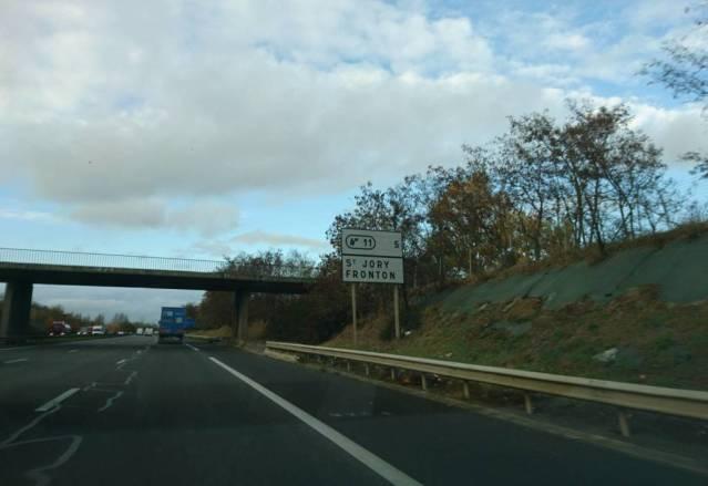 La vitesse légale autorisée est abaissée temporairement à 110 km/h