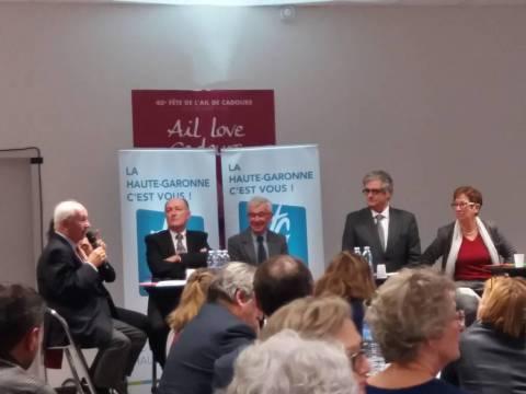 Georges Méric et les élus départementaux