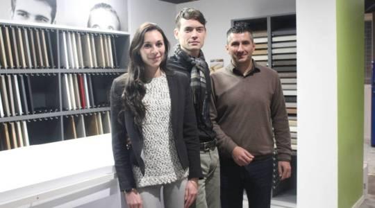 Une équipe dynamique avec Marie, Maxence et Frédéric.