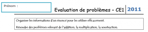 Evaluation de problèmes