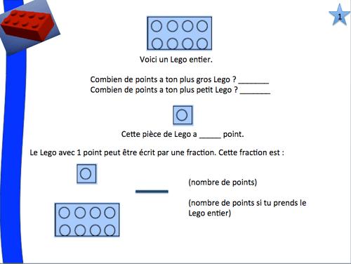 Défis Lego série 1 (fractions) pour débuter