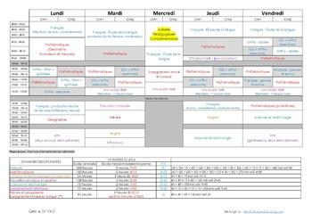 Emploi du temps Cm1-Cm2 - 2016-2017